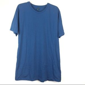 District Threads Crew Neck Tee Blue Size Large